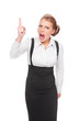 angry businesswoman shaking her finger