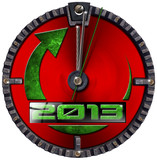 2013 New Year Grunge Clock