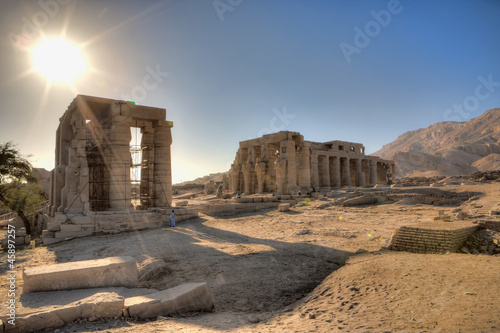 Afternoon in Ramesseum temple in Luxor