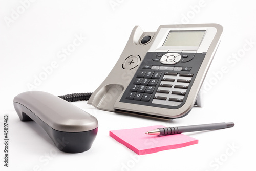 IP phone with notepad