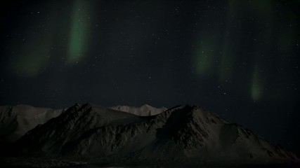 Northern Lights and Arctic mountains