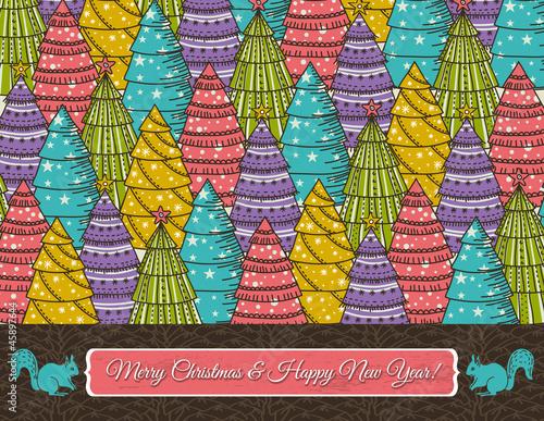 剪贴画卡图图形圣诞节垃圾壁纸寒冷的形状彩色复古庆祝活动插图摘要文
