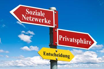 Soziale Netzwerke vs Privatsphäre