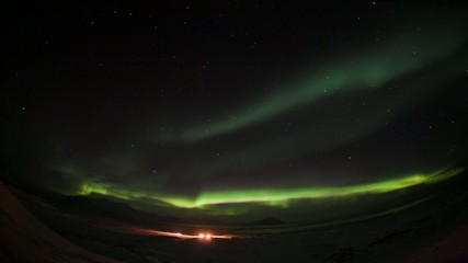 Northern Lights overt the Polar Station