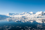 Awesome seascape in Antarctica