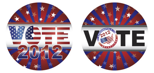 Vote 2012 Presidential Election Buttons Illustration