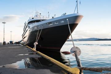 Cruise ship in Ushuaia dock
