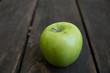 Apple on wood
