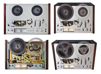 vintage analog recorder isolated