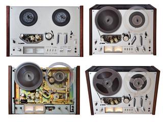 vintage analog recorder isolated