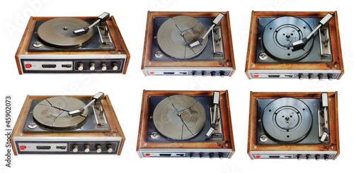 old record-player set