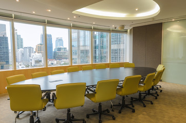 big conference room in high building