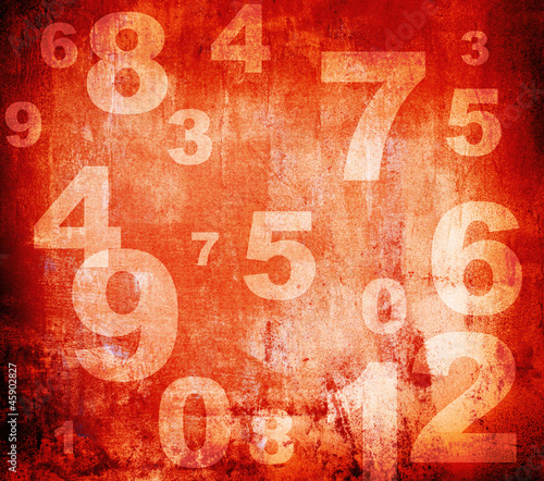 retro style numbers-background in grunge style © aborisov