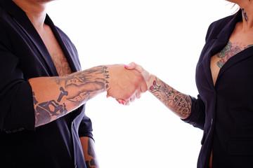 A symbolic handshake