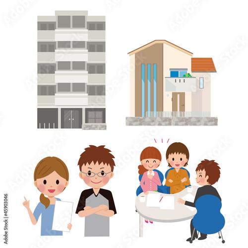 住宅と夫婦