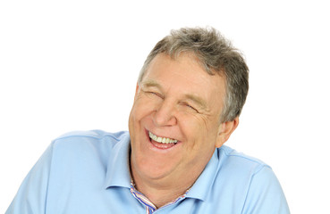 Laughing Middle Aged Man