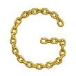 3d Gold Chain Alphabet Font - G