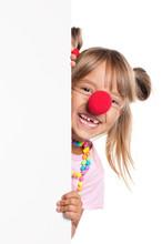 Dziewczynka z nosa klauna