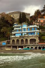 Levanto, Italy. View of the coast.