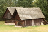 traditional wooden houses from Eastern Slovakia poster