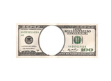 Artistic dollar bill