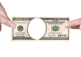 Artistic dollar bill