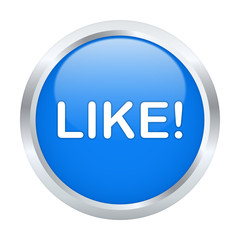 Like button. Vector illustration