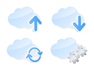 Cloud icons. Vector illustration