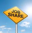 Job sharing concept.