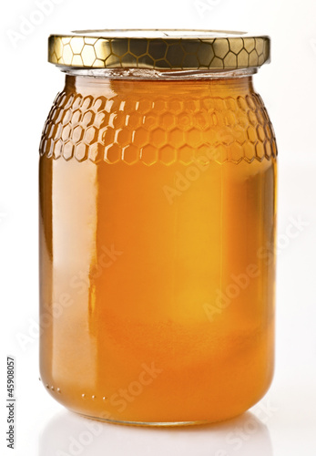 honey pot preserved, isolated on white