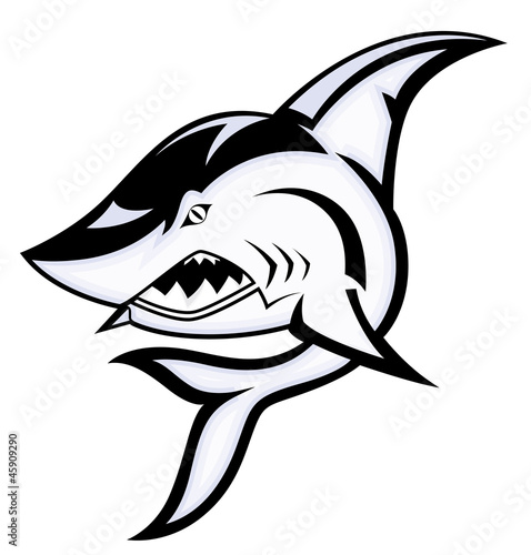Angry Shark Mascot Vector Illustration