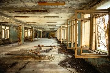 Abandoned Corridor in Chernobyl