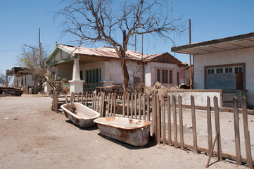 Saltpetre works of Humberstone, deserted town in Chile