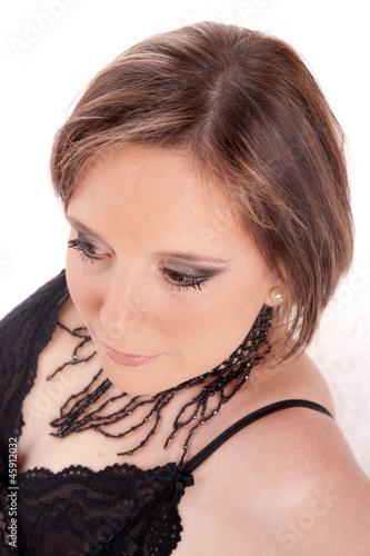 portrait de femme et joli maquillage