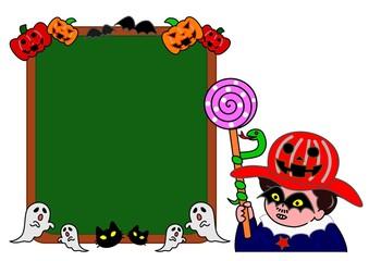 ハロウィンのボード
