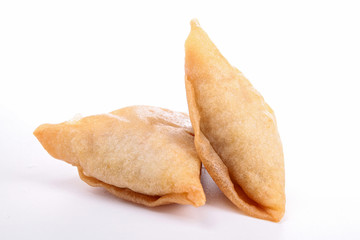 isolated samosa