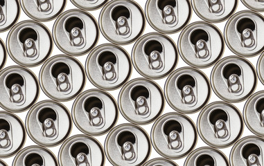 metal beer cans