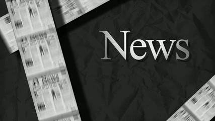 News headlines magazine newspaper animation video