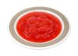 Applesauce Strawberries in Dish
