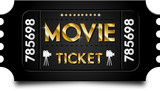 Gold movie ticket