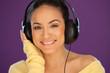 Gorgeous woman enjoying her music
