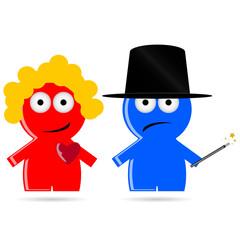 magic people icon vector illustration