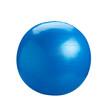 Blue gyms ball or yoga ball isolated