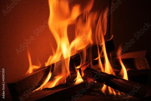 Leinwandbild Motiv Kaminfeuer