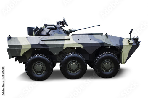 Isolated Army Vehicle