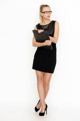 Elegante junge Geschäftsfrau