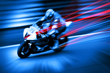 dynamic motorcyclist