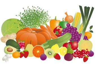 panier légumes & fruits d'automne