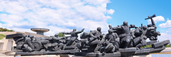 Memorial to Soviet soldiers during WW2 © tverkhovinets