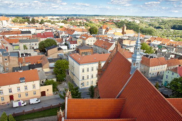 Chelmno old town - aerial view.